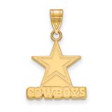 NFL Dallas Cowboys Medium Pendant 14k Yellow Gold, MPN: 4Y003COW