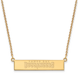 Tampa Bay Buccaneers Small Bar Necklace - 14k Yellow Gold 4Y016BUC-18