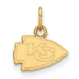 NFL Kansas City Chiefs x-Small Pendant Gold-plated on Silver, MPN: GP001CHF, UPC: 191101423956