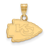 NFL Kansas City Chiefs Small Pendant Gold-plated on Silver, MPN: GP002CHF, UPC: 191101423963