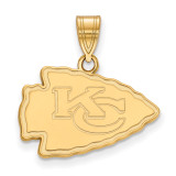NFL Kansas City Chiefs Medium Pendant Gold-plated on Silver, MPN: GP003CHF, UPC: 191101423970
