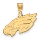NFL Philadelphia Eagles Medium Pendant Gold-plated on Silver, MPN: GP003EAG, UPC: 191101424618