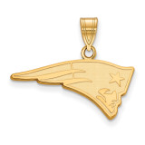 NFL New England Patriots Medium Pendant Gold-plated on Silver, MPN: GP003PAT, UPC: 191101426056