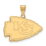 NFL Kansas City Chiefs Large Pendant Gold-plated on Silver, MPN: GP004CHF, UPC: 191101423987