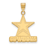 NFL Dallas Cowboys Large Pendant Gold-plated on Silver, MPN: GP004COW, UPC: 191101424304