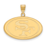 NFL San Francisco 49ers Large Pendant Gold-plated on Silver, MPN: GP004FOR, UPC: 191101424946
