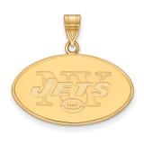 NFL New York Jets Large Pendant Gold-plated on Silver, MPN: GP004JET, UPC: 191101425424