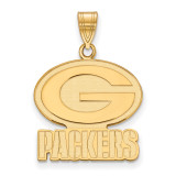 NFL Green Bay Packers Large Pendant Gold-plated on Silver, MPN: GP004PAC, UPC: 191101425745