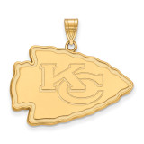 NFL Kansas City Chiefs x-Large Pendant Gold-plated on Silver, MPN: GP005CHF, UPC: 191101423994