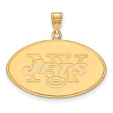 NFL New York Jets x-Large Pendant Gold-plated on Silver, MPN: GP005JET, UPC: 191101425431