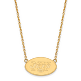 New York Jets Large Pendant with Necklace - Gold-plated on Silver GP012JET-18