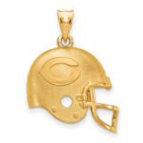 NFL Chicago Bears Helmet Pendant Gold-plated on Silver, MPN: GP505BEA, UPC: 634401003935