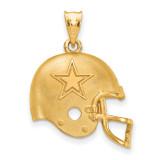NFL Dallas Cowboys Football Helmet Pendant Gold-plated on Silver, MPN: GP505COW, UPC: 634401211026