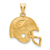 NFL Miami Dolphins Football Helmet Pendant Gold-plated on Silver, MPN: GP505DOL, UPC: 634401173850