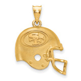 NFL San Francisco 49ers Helmet Pendant Gold-plated on Silver, MPN: GP505FOR, UPC: 634401200488