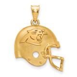 NFL Carolina Panthers Helmet Pendant Gold-plated on Silver, MPN: GP505PAN, UPC: 634401003973