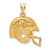 NFL Baltimore Ravens Helmet Pendant Gold-plated on Silver, MPN: GP505RAV, UPC: 634401107398