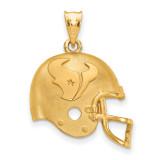 NFL Houston Texans Football Helmet Pendant Gold-plated on Silver, MPN: GP505TXN, UPC: 634401011213