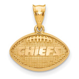 NFL Kansas City Chiefs Football Pendant Gold-plated on Silver, MPN: GP506CHF, UPC: 634401001856