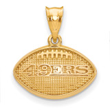NFL San Francisco 49ers Football Pendant Gold-plated on Silver, MPN: GP506FOR, UPC: 634401444684