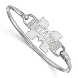 Collegiate Mississippi State University Bangle Gold-plated on Silver, MPN: SS021MSS-6, UPC: 191101010934