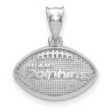 NFL Miami Dolphins Football with Logo Pendant Sterling Silver, MPN: SS506DOL, UPC: 634401431950