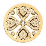 Nikki Lissoni Vintage Love with Swarovski Crystals Gold-plated 33mm. MPN: C1645GM UPC: C1645GM_NIK