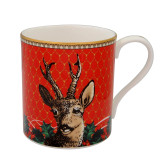 Halcyon Days Antler Trellis & Stag Head Mug, MPN: BCGAS06MGG, EAN: 5060171154259