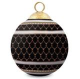 Halcyon Days Antler Trellis Black Bauble Ornament, MPN: BCGAT02XBN, EAN: 5060171154402