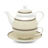 Halcyon Days Antler Trellis Ivory Tea for One, MPN: BCGAT04TON, EAN: 5060171154181