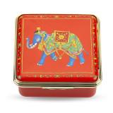 Halcyon Days Ceremonial Indian Elephant Enamel Box, MPN: ENCIE0658G, EAN: 5060171120551