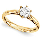 Solitaires Mounting Ring Band Prong Set Round 10k Yellow Gold Engagement Raw Casting, MPN: 1YM177-1
