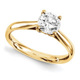 Solitaires Mounting Ring Band Prong Set Round 10k Yellow Gold Engagement Raw Casting, MPN: 1YM178-1