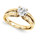 Solitaires Mounting Ring Band Prong Set Round 10k Yellow Gold Engagement Raw Casting, MPN: 1YM188-1