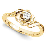Solitaires Mounting Ring Band Prong Set Round 10k Yellow Gold Engagement Raw Casting, MPN: 1YM621-1