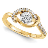 Engagement Mounting Ring Band 10k Yellow Gold Raw Casting, MPN: 1YM623-1