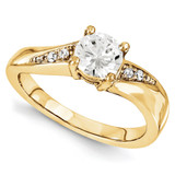 Engagement Mounting Ring Band 10k Yellow Gold Raw Casting, MPN: 1YM629-1