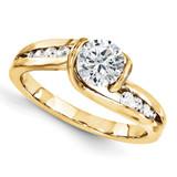 Wedding Set Mounting Ring Band Bezel Round Bezel 10k Yellow Gold Engagement Raw Casting, MPN: 1YM641-1