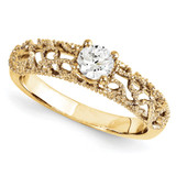 Solitaires Mounting Ring Band Prong Set Round 10k Yellow Gold Engagement Raw Casting, MPN: 1YM770-1