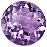 Amethyst 5mm Round Checkerboard Gemstone, MPN: AM-0500-RDX-AA