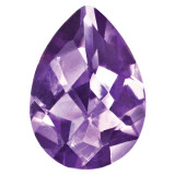 Amethyst 6X4mm Pear Checkerboard Gemstone, MPN: AM-0604-PSX-AA