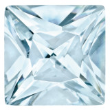 Aquamarine 3mm Princess Gemstone, MPN: AQ-0300-SQP-AA