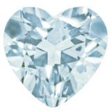 Aquamarine 4mm Heart Faceted Gemstone, MPN: AQ-0400-HTF-A