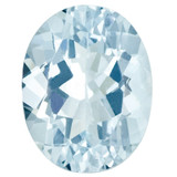 Aquamarine 4X3mm Oval Gemstone, MPN: AQ-0403-OVF-AA