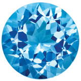 Blue Topaz 2mm Round Gemstone, MPN: BT-0200-RDF-AA