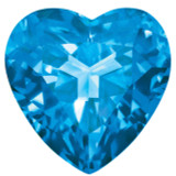 Blue Topaz 3mm Heart Faceted Gemstone, MPN: BT-0300-HTF-AA