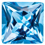 Blue Topaz 3mm Princess Gemstone, MPN: BT-0300-SQP-AA