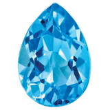 Blue Topaz 4X3mm Pear Gemstone, MPN: BT-0403-PSF-AA