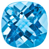 Blue Topaz 5mm Cushion Checkerboard Gemstone, MPN: BT-0500-CUX-AA