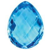 Blue Topaz 6X4mm Pear Checkerboard Gemstone, MPN: BT-0604-PSX-AA